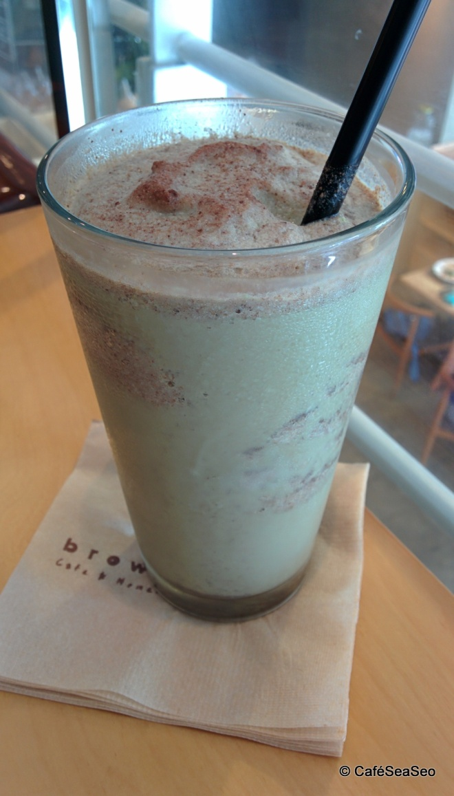 70 mint chip latte at browny 70